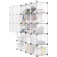 LANGRIA 20-Cube DIY Modular Cubby Shelving Storage...