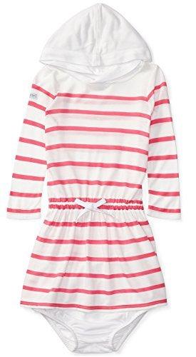 Ralph Lauren Infant Dresses (Ralph Lauren Baby Girl Hooded L/S Jersey Dress & Bloomer Set (3 Months, Pink/White))