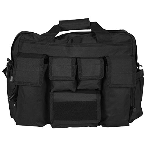 LA Police Gear Tactical Mil-Spec 600D Polyester Jumbo Operator Diaper Bag-Black