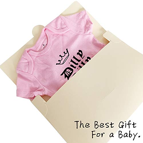 Dilly Dilly Drinking Funny Baby Onesies Newborn Bodysuit Super Soft Cotton Baby Short Sleeve Clothes Christmas Gift(9m Pink dad17)