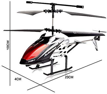 WSJ Hélicoptère extérieur AHangcc 3,5 canaux avec résistance aux Chocs et Gyroscope pour télécommandes extérieures pour Enfants Adultes (la Couleur Peut Varier)
