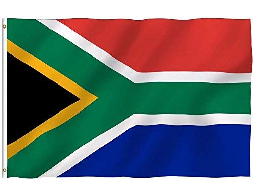DFLIVE Republic of South Africa Country Flag 3x5 ft Printed Polyester Fly Republic of South Africa National Flag Banner with Brass Grommets