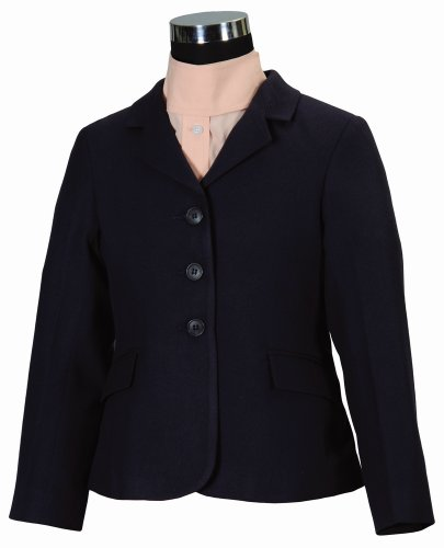Childs Show Coat - TuffRider Girl's Extra Starter Show Coat, Navy, 16