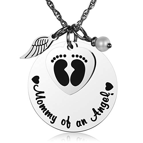 JZSTA Miscarriage Stillborn Necklace Gifts Infant Child Baby Loss Memorial Pregnancy Loss Mommy of an -