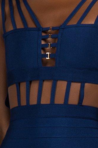 Super-strappy Ritaglio Sexy Fasciatura Del Bodycon Compleanno Club Vegas Mini Marina Vestito Delle Donne Akira