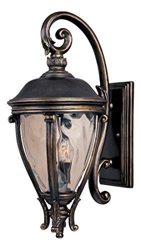 - Three Light Golden Bronze Water Glass Glass Wall Lantern