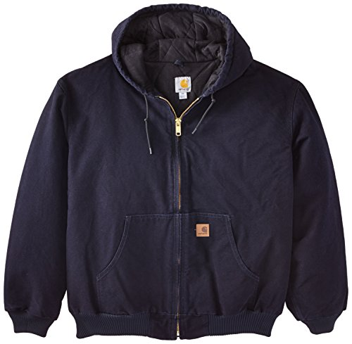 Carhartt Men's Big & Tall Quilted Flannel Lined Sandstone Active Jacket J130,Midnight,Large Tall