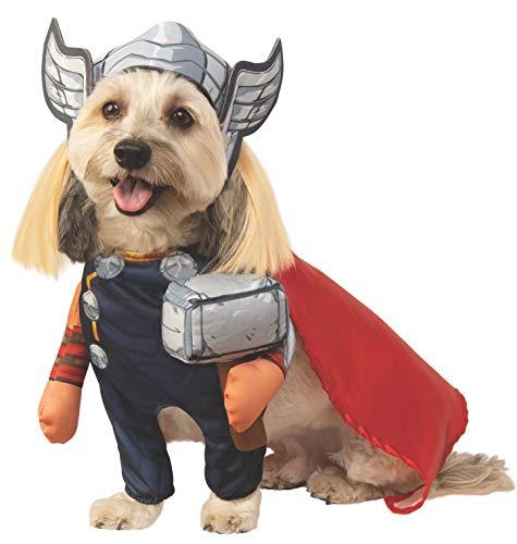 Thor Dog Halloween Costume (Rubie's Marvel Walking Thor Pet Costume,)