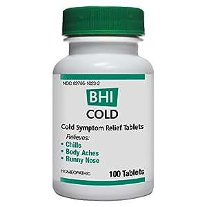 BHI Cold Symptom Relief Tablets, 100 Count