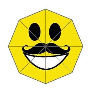 Custom Funny Smiley Faces Umbrella–Auto Foldable Umbrella 100% Polyester