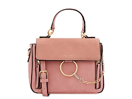 Cross Clutch Handle Leather Women's Body Pink Bag Top Bag KT2297 Ladies pqYxBgB