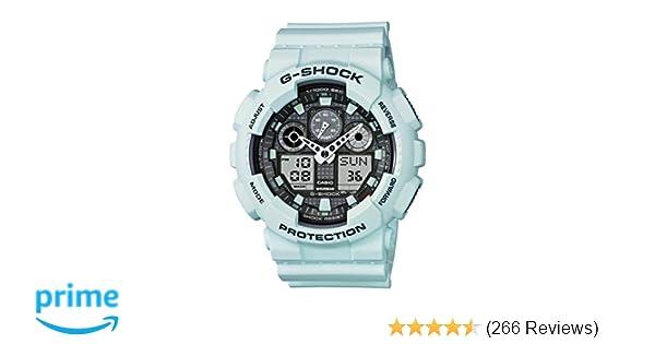dc0488eeaf Amazon.com: Casio Men's XL Series G-Shock Quartz 200M WR Shock Resistant  Resin Color: Matte Foam White (Model GA-100LG-8ACR): Casio: Watches