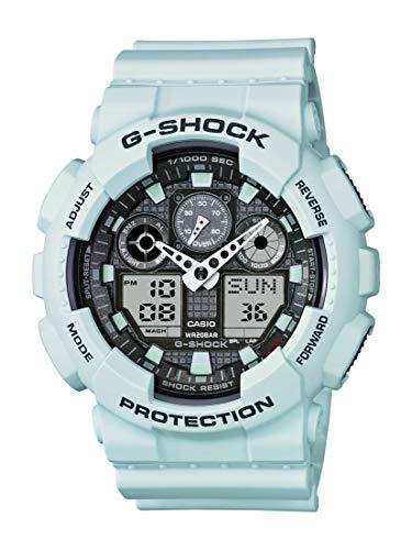 Casio Men's XL Series G-Shock Quartz 200M WR Shock Resistant Resin Color: Matte Foam White (Model GA-100LG-8ACR)