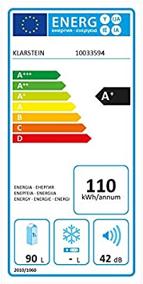 Klarstein Feldberg Nevera, Eficiencia energética clase A+, Volumen ...