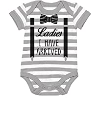 TeeStars - Ladies I Have Arrived Bowtie Funny Baby Boy Bodysuit Baby Onesie