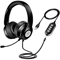 Vtin Headset with Microphone, USB Headset/ 3.5mm Computer...