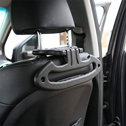 Faithful Black Multipurpose Double Car Van Seat Back Hanger Organizer Hook Headrest Holder Robe Hooks