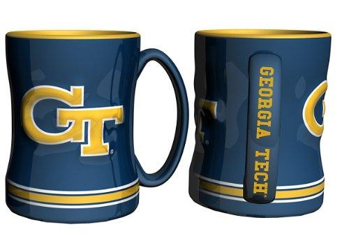 Boelter Brands - Georgia Tech Yellow Jackets Coffee Mug - 14oz Sculpted