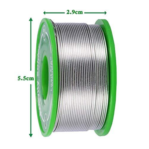 diametro 0,8 mm,0.7Cu-0.3Ag per Saldatura Elettrica iwobi Filo per Saldatura,Stagno per Saldatura Senza Piombo,Rotolo Stagno per Saldatura,100 g