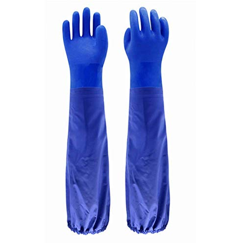 """Insulated & Waterproof PVC Coated Glove with Cotton liner, Heavy Duty Latex Gloves, Resist Acid, Alkali and Oil,Fishery, Machinery, Chemical industry-26"""" by PinkSally (Image #6)"""