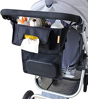 Universal Stroller Organizer Fits Any Stroller Stroller Accessories Organizer Bag Flamingo Baby Stroller Organizer with Cup Holders /& Diaper Bag /& Phone Holder Double Stroller Organizer