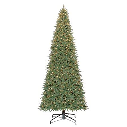 pre lit 12 williams pine artificial christmas tree clear lights 12