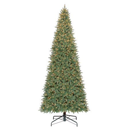 Pre-Lit 12' Williams Pine Artificial Christmas Tree, Clear-Lights + 12-foot length Lighted Foot Switch & 25' Cord Multi-Directional 3-outlet Extension Cord - Bundle ()
