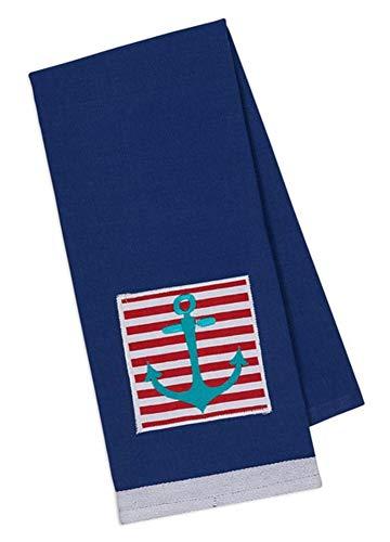 DII Design Imports Kitchen Towel Blue Boating Dishtowel Embellished Anchor. 18 X 28