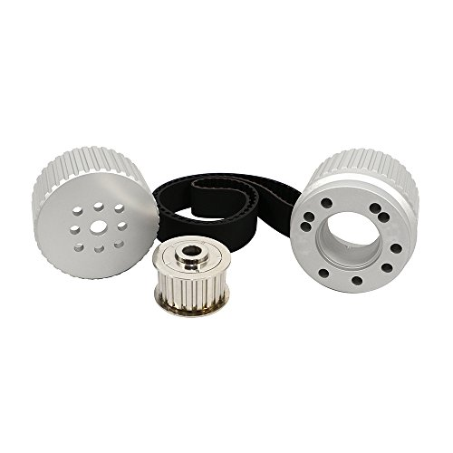 Assault Racing Products 2254KIT for Small Block Ford Billet Aluminum Gilmer Belt Drive Pulley Kit SBF 302 351W ()