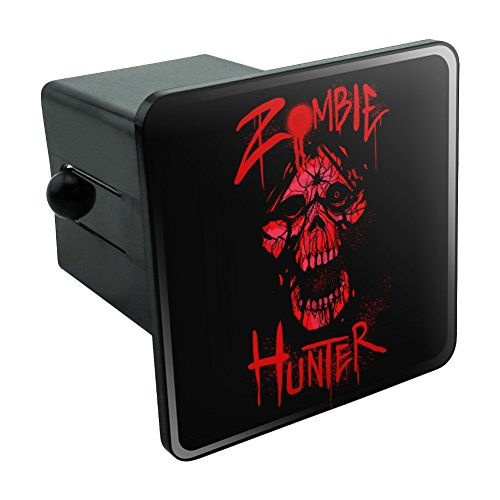Graphics and More Zombie Hunter Red Skull Tow Trailer Hitch Cover Plug Insert 2