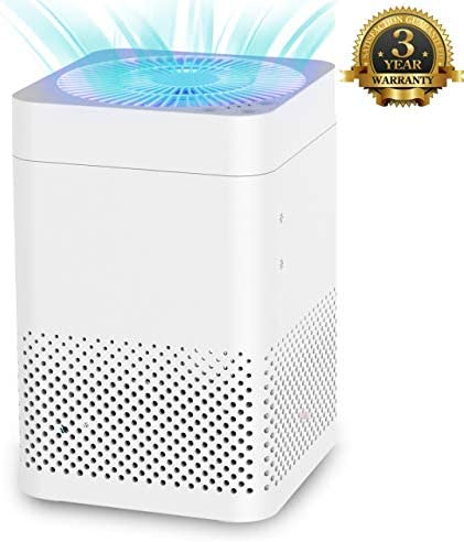 TRUSTECH Air Purifier – True HEPA Air Purifier for Home w Auto Mode, Noiseless Air Filter System Removes Smoke, Odor, Pet Dander, Pollen Dust, Covering 215 ft for Bedroom, Kitchen Office