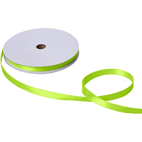 Jillson & Roberts Double-Faced Satin Ribbon, 5/8'' Wide x 100 Yards, Lime by Jillson Roberts