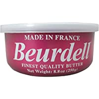Beurdell Finest Quality Butter: 3% Salted Pasteurized AAA Grade Product of France 8.8oz (250g)- 2-Pack