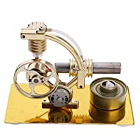 Flameer Mini Hot Air Stirling Engine Motor Model Electricity Generator Educational Physical Science Kits