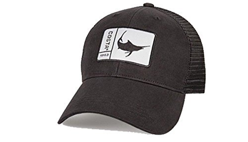 59e82f67157b4 Amazon.com  Costa Del Mar Original Patch Marlin Trucker Hat-Black ...