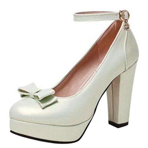 Women Fashion Heel Shoes Pumps Block RizaBina Green F1qB66