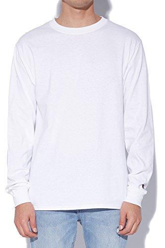 Champion LIFE Men's Cotton Long Sleeve Tee, White, Medium from Champion LIFE