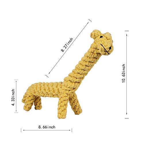 samzan Dog Chew Toys Small to Medium Sized Pets Puppy Dog Pet Rope Toys Pet Play Training Toy Animal Design Big - Giraffe Rope