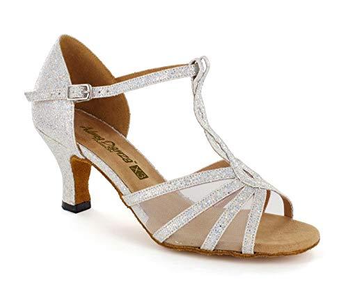 (Alma Danza (X3 Series) Women's Latin Dance Shoes (6) Silver)