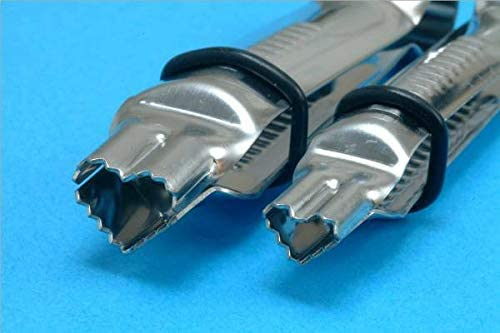 PME Closed Curve Plain Fondant Crimper Standard Silver 1//2