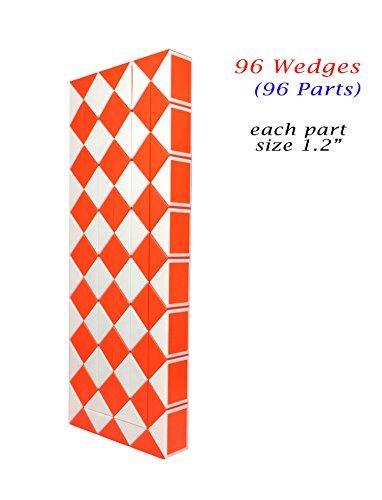 Rubik Twist Snake 96 Wedges (Parts) Orange Color each part size 1.2″ New Children's Basic Skills Development Toys
