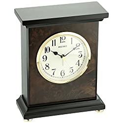 Seiko Wood Desk Clock (Model: QXE056BLH)