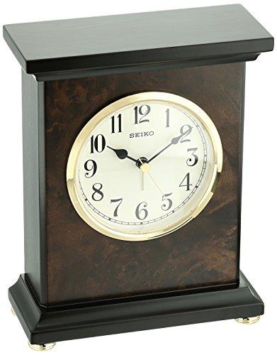 Seiko Wood Desk Clock (Model: QXE056BLH)