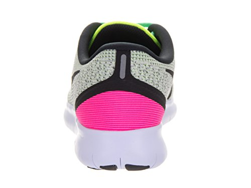 Scarpa da running Blast Nike Free RN bianca / nera / Volt / rosa donna 6.5 Donne US