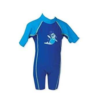 227b8ddfcce Zoggs Zoggy Sun Protection Suit (1 Piece Blue) UPF50+  Amazon.co.uk ...