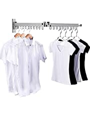 Bakala Wall Mounted Space-Saver, Clothes Drying Rack, Retractable Fold Away Clothes Dry Racks, Easy to Install Design, Balcony, Mudroom, Bedroom, PoolArea etc