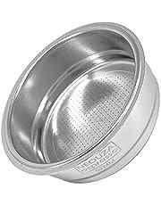 NEOUZA 51mm 304 roestvrij stalen filter zeef mand 1/2/4 cup backflush blind mand voor bodemloze portrettabilter, compatibel met Delonghi, Breville koffie Espresso machine (1 kop)