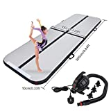 Polar Aurora 9.84ft/13.12ft Air Track Inflatable Tumbling Mat for Gymnastics with Electric Air Pump for Practice Gymnastics