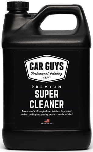 CarGuys Super Cleaner - The most effective All Purpose Cleaner available on the market! - Best for Leather Vinyl Carpet Upholstery Plastic Rubber and much more! - 1 Gallon Bulk Refill (Best Point Guard Shoes)