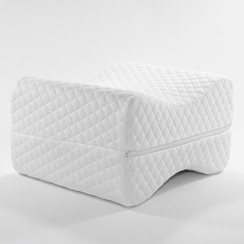 ChipTee Knee Pillow for Side Sleepers - Relieves Back Pain and Leg Pain - Perfect for Sciatic Nerve Pain Relief - Comfortable Memory Foam Pillow - Comes with a Washable Cover and an Ergonomic Design